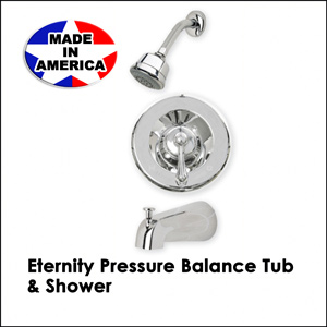 Eternity Pressure Balance Tub & Shower Chrome 33395