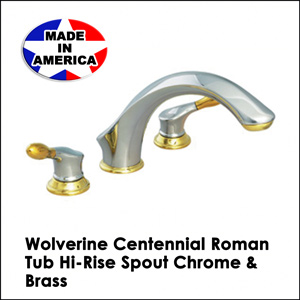 Wolverine Centennial Roman Tub Hi-Rise Spout Chrome & Brass CT33101