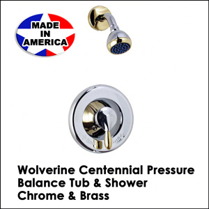 Centennial Pressure Balance Tub & Shower Chrome & Brass CV31001T
