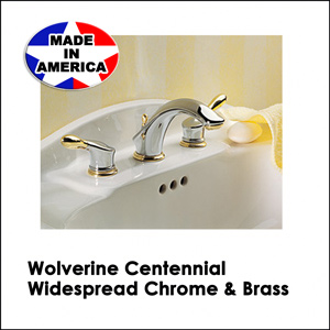 Wolverine Centennial Widespread Chrome & Brass CW3111