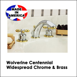 Wolverine Centennial Widespread Chrome & Brass CWC33111