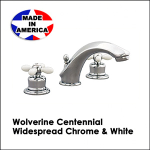 Wolverine Centennial Widespread Chrome & White CWC33332