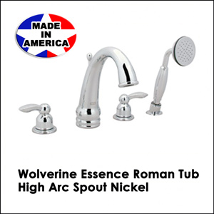 Wolverine Essence Roman Tub High Arc Spout Chrome ESR1330