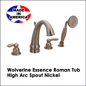 Wolverine Essence Roman Tub High Arc Spout Nickel ESR1430