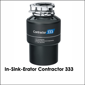 In-Sink-Erator Contractor 333, 3/4 HP, 3 yr warranty