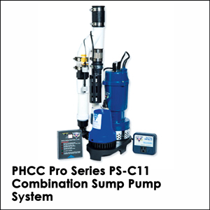 PHCC Pro Series PS-C11 Combination Sump Pump System