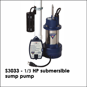 S3033 - &#8531 HP submersible sump pump