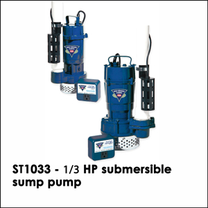 ST1033 - &#8531 HP submersible sump pump